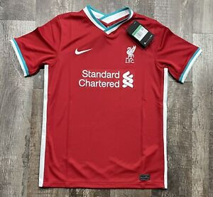Nike Liverpool 2020-2021 Home Soccer Jersey Sz Youth XL Football Dri-Fit