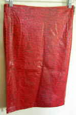 Ladies Womens Faux Leather Pencil Skirt Below Knee Christopher Ari Size 8  BNWT