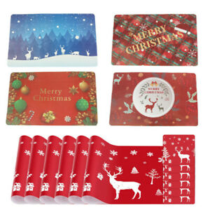 Christmas Placemats Set of 6 Holiday Table Mats Xmas Dining Kitchen Decorations