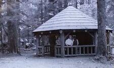 Picnic Shelter, Mt. Baker National Forest, Washington, Magic Lantern Glass Slide
