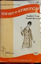 Sew Knit N Stretch pattern #122 Ladies Double-Breasted Coat sz 10.12,14 unopened