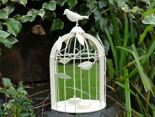 STUNNING METAL BIRD CAGE STYLED MIRROR WITH A SMALL CANDLE HOLDER (3293)