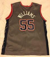 Vintage NBA Champion New Jersey Nets Jayson Williams #55 Jersey Sz 44