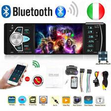 4,1 pollici Autoradio Stereo 1Din Bluetooth MP5 SD USB AUX FM con telecamera