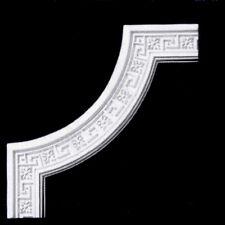 Solid Plaster Greek Key and Flower Beading Corner PMJ 002