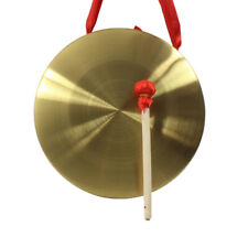 22cm Hand Gong Cymbals Brass Copper Chapel Opera with Round Play Hammer New