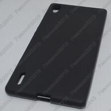 Black Matting TPU Silicone Case Cover for Huawei Ascend P7