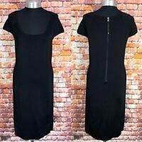 RALPH LAUREN Sheath Dress Size Medium Stretchy Ladies Women's Party In Black