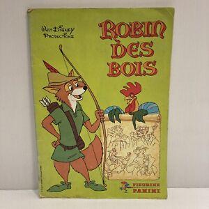 Album vignettes images panini Walt Disney Productions Robin des bois complet