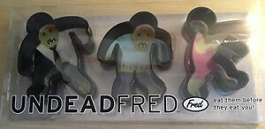 New FRED Cookie Cutters - Undead Fred - 3 Zombies - Eat Them Before They Eat You