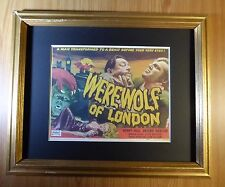 WEREWOLF OF LONDON MOVIE POSTER RP ON CARDSTOCK MATTED 11 X 14