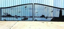 Driveway Gate 20' Wd Commercial - Residential Home Security Veterans Discount!