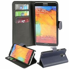 For Samsung Galaxy Note 3 Leather Case Wallet Credit Card Kickstand Flip Cover