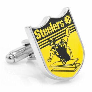 Pittsburgh STEELERS NFL Retro Old Logo CUFFLINKS NEW in Gift Box NIB 40% off!