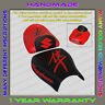 Unique Custom Seat COVER Black+Red Suzuki GSX1300R Hayabusa 99-07 (First-Gen)