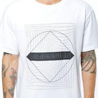 T-shirt  Maglietta Manica Corta Stampa 100% Cotone Casual Uomo Bianca JUNKYARD M