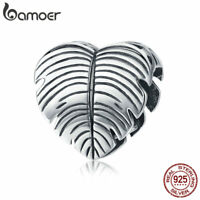 BAMOER Authentic S925 Sterling silver Charm Bead Gently love For Women Bracelet