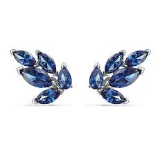 Swarovski Crystal Louison Stud Pierced Earrings, Blue, Rhodium Plated 5536549