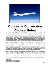 CONCORDE -  British Airways Flight Crew Conversion Course Notes