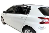 Peugeot 308 II 5 portes 2013-2019 Deflecteurs d'air Déflecteurs 4pcs