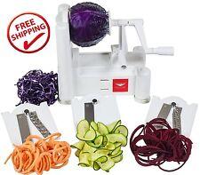 Paderno Spiralizer World Cuisine Tri Blade Plastic Spiral Vegetable Slicer NEW