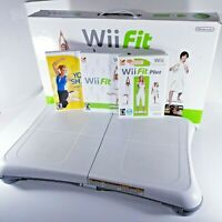 Nintendo Wii Fit Plus with Balance Board/Game/Original Box - Tested & Working