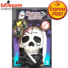 AC567 Smoker Skull Face Mask with Hood Skeleton Horror Halloween Adult Scary
