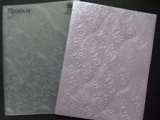 RARE Exquisite Cuttlebug 5 x 7  Embossing Folder FANCY FRENCH FLOURISHES