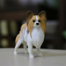 JJM Papillon Dog Pet Figure Canidae Animal Toys Canis lupus familiaris Car Decor