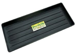 Grow Bag Tray Plastic Black Plant Watering Trays Growbag For Plant Pots Garden