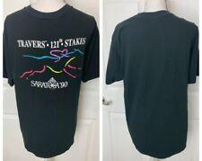 SARATOGA Vintage 80's Black Shirt XL Horse Racing Track Travers 121st Stakes 90