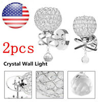 Modern LED Crystal Wall Mount Light Fixture Sconce Lamp Lighting Bedside Hallway