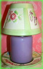 *NEW* HANNA'S CANDLE SET 3 PIECE 18 OZ. SOY LILAC JAR CANDLE CERAMIC LAMP SET