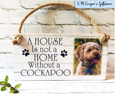 PERSONALISED COCKAPOO dog OWN PHOTO wall plaque sign pet puppy gift add own text