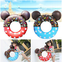 Cartoon Micky Donut Swim Ring Inflatable Float for Kids Children Swimming Pool