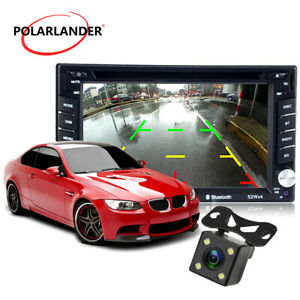 """6.2"""" 2 DIN Car Radio DVD/CD MP5 Player FM Stereo Touch Screen Bluetooth +Camera"""