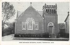 C71/ Woodsfield Ohio Postcard 1954 First Methodist Episcopal Church