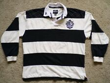 Guiness Mens Rugby Polo Shirt Official Merchandise Harp Badge Long Sleeve XL