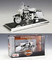 MAISTO 1:18 Harley Davidson 1966 FLH ELECTRA GLIDE MOTORCYCLE BIKE MODEL Toy NIB