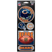 Chicago Bears Prismatic Decal Sticker Set