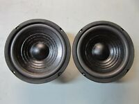 "NEW (2) 6.5"" Subwoofer Speaker PAIR.8 ohm.Subs.6-1/2 Bass.DVC Dual Voice Coil."