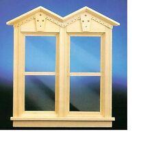 Dollhouse Miniatures 1:12 Scale 4-Light Window 2//Pk #CLA75004