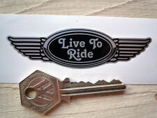 Live to ride 125mm winged casque autocollant rockers teds