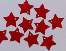 24 Sterne rot, Anhänger Zahlen für Adventskalender 3,5cm Weihnachtskalender