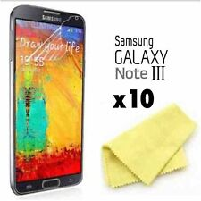 Samsung Galaxy Note 3 Screen Protector & Cloth Wholesale Job Lot x 10