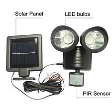 22 LED Solar Powered PIR Motion Sensor Security Light Outdoor Garden Path Lamp