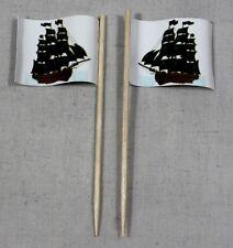 Party-Picker Pirat (6) Piratenschiff 50 St. Dekopicker Papierfähnchen Käsepicker