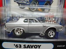 MUSCLE MACHINES '63 PLYMOUTH SAVOY - HEMI - FUEL INJECTED GASSER 1/64 DIECAST