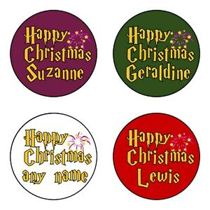 HP⚡ PERSONALISED Harry Potter inspired Christmas Gift Tags Present Stickers