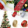 Christmas Decorations 2M Glitter Ribbon Lace Xmas Tree Wedding Party Ornament